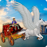 Flying Horse Taxi City Transport: Horse Games 2020  MODs APK 2.6