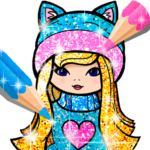 Girls Coloring Book for Kids Glitter  MODs APK 1.1.6.4