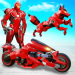 Wild Fox Transform Bike Robot Shooting: Robot Game  MODs APK 20