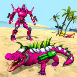 Real Robot Crocodile Simulator- Robot transform MODs APK 1.0.17