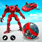 Red Ball Robot Car Transform: Flying Car Games  MODs APK 1.4.1