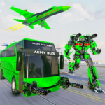 Army Bus Robot Transform Wars – Air jet robot game MODs APK 3.8