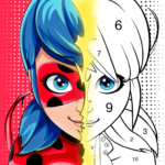 Miraculous Ladybug & Cat Noir. Color by number MODs APK 1.1.6