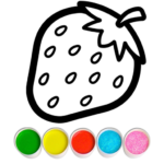 Fruits and Vegetables Coloring Game for Kids MOD APK  (Unlimited Money) 1.2